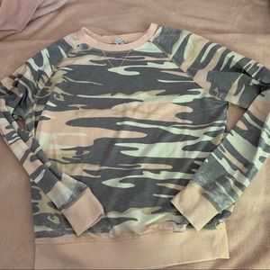 Z supply pink camo top